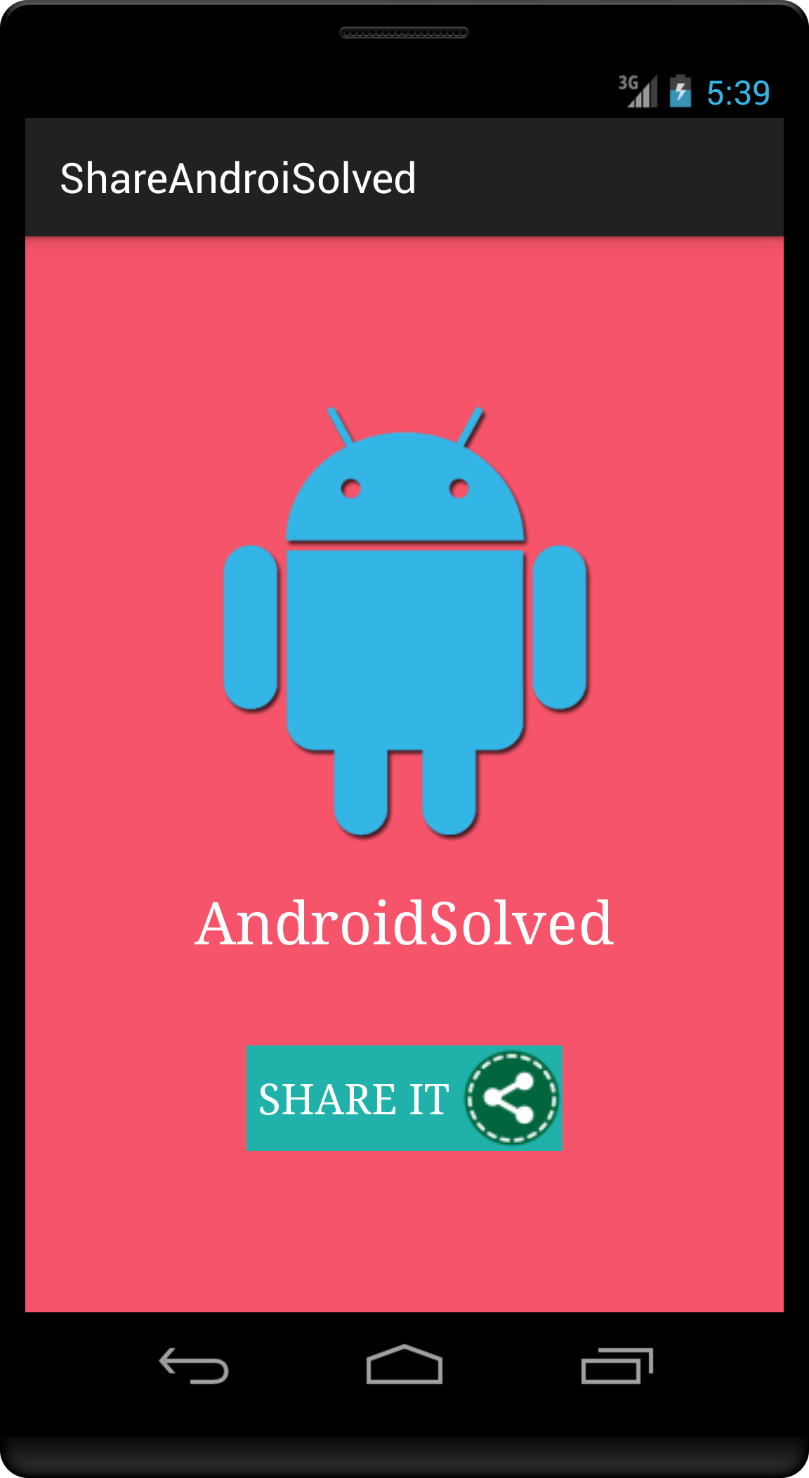 Share Option Or Button Implementation Example In Android